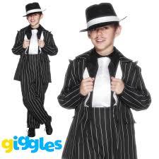 Mafia Halloween Costume Boys Gangster Zoot Suit Costume Pinstripe Mafia Bugsy Malone Fancy