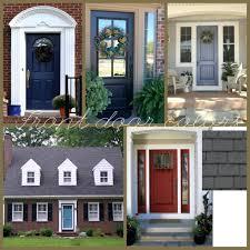 front doors most appealing front door color red brick house