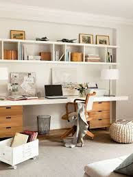Office Shelf Decorating Ideas Winsome Desk Attached To Bookshelf Minimalist Home Office Or Other