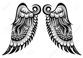 angel wings tattoo wings royalty free cliparts vectors and stock