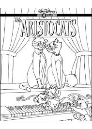 aristocats playing piano coloring pages hellokids