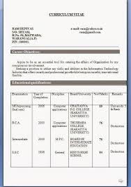 mca resume format for freshers pdf curriculum vitae format for engineering students pdf
