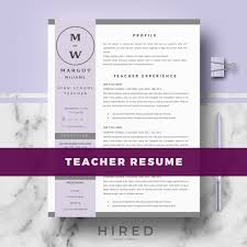 Actions Words For Resume Teacher Resume Template Archives Hired Design Studio