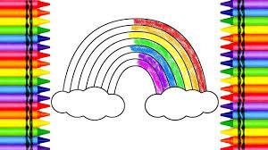 colour rainbow crayons color lesson kids