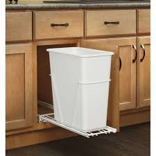kitchen cabinet trash can cans built in for door mounted garbage