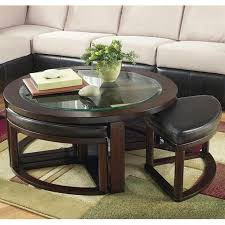 nebraska furniture coffee tables round glass coffee table with 4 stools nebraska furniture mart