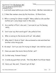 Quotation Marks Worksheet Quotation Marks Worksheet 3 Worksheets