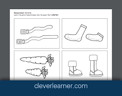 free printable worksheets on measurement long or shor longer or