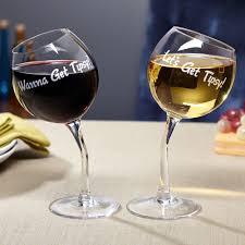 cool wine gifts get tipsy wine glasses