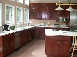 kitchen custom l shaped base kitchen cabinet design with cream