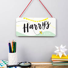 Personalised Child U0027s Bedroom Sign By Delightful Living