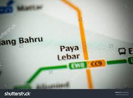 Singapore Metro Map by Paya Lebar Station Singapore Metro Map Stock Photo 553166026