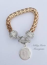 silver monogram bracelet gold and silver monogram bracelet incorporated