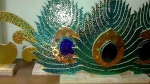 Peacock Decorations by Thermocol Art Youtube