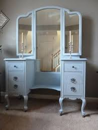 Shabby Chic Vanity Table by Atlanta Shabby Chic Vanity Table With Attached Mirror And Bench