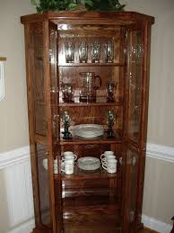 kitchen corner display cabinet decoration collectible display cabinet with glass door white
