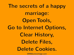 Happy Wedding Quotes The Secrets Of A Happy Marriage Marriage Sms Quotes Image