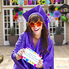 colorful custom grad party invites idea colorful graduation