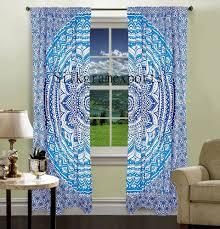 indian mandala wall tapestry valance door window curtain blinds 2