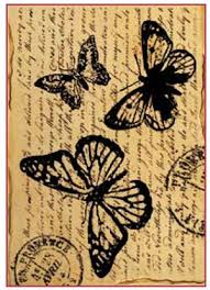 decoupage rice paper a4 butterfly with words dfsa4120