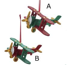 pole wooden airplane ornament the loft