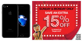 target black friday tv sales continue until cyber monday target to offer 15 off all apple products on sunday and cyber