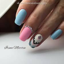 pink blue nail art choice image nail art designs