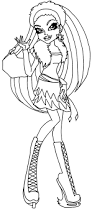 monster high coloring pages clawdeen wolf monster high clawdeen wolf sweet 1600 costume holding a present