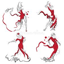 flamenco dance sketches stock illustration image 58341333