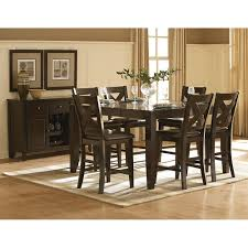 high dining room table and chairs crosspointe dining counter table 4 chairs cp700 dining room