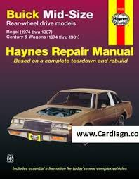 old car repair manuals 1989 buick regal spare parts catalogs buick mid size haynes repair manual free download pdf buick manual