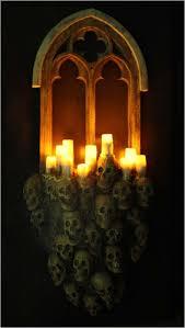 Halloween Window Lights Decorations - gothic window halloween decoration 508x900 jpg 508 900