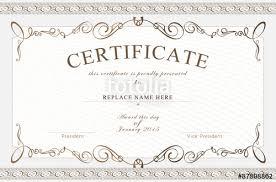 certificate border certificate template vector illustration