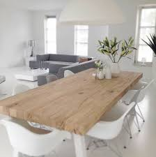 bureau en ch e massif looking table bois et blanc de salon laqu ch tellerault jpg