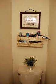 Wood Bathroom Shelves by 27 Beautiful Diy Bathroom Pallet Projects For A Rustic Feel