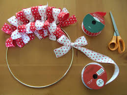 ribbon wreath easy to make christmas ribbon wreath shelterness