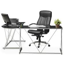 plateau de bureau d angle bureau verre mercure bureau d angle design plateau verre noir