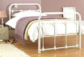 White Metal Kingsize Bed Frame White Metal Bed Frame Answersdirect Info