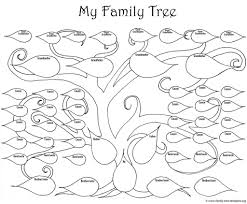 tree diagram coloring page kids drawing and coloring pages