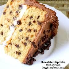 chocolate chip cake recipe my cake