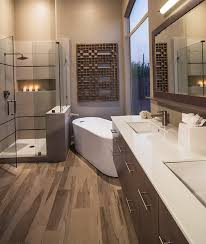 Wood Floor Bathroom Ideas This Room Is More Like The Work Location A Wall Made In Brick