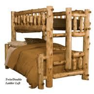 Rustic Twin Over Full Log Bunk Beds - Log bunk beds