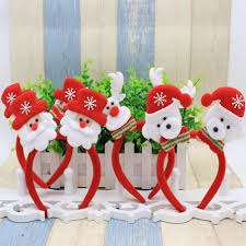 christmas decorations led light santa claus headband head