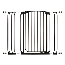 dreambaby chelsea 40 in h extra tall auto close security gate in