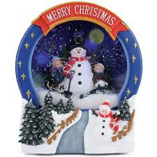 christow musical snowing christmas scene u2013 snowman this is it uk
