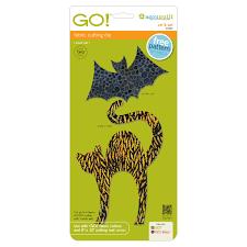 Halloween Cat Fabric Go Cat U0026 Bat Accuquilt