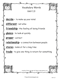 second grade vocabulary worksheets worksheets releaseboard free