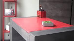 bureau beton ciré mobilier sur mesure design en béton ciré décoratif
