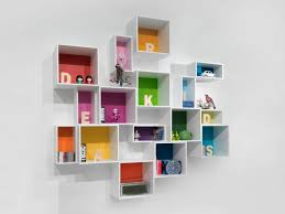 wall mounted bookcase modular contemporary lacquered mdf