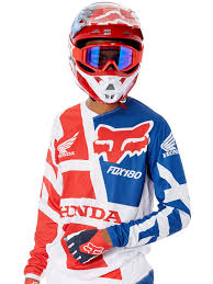 fox motocross jersey fox red honda 2018 180 mx jersey fox freestylextreme america